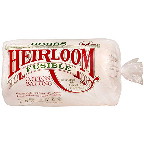 "Heirloom Premium Fusible Cotton Blend Batting 90"" x 108"" from Hobbs"
