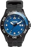 Cressi Manta Coloroma Reloj Submarino 100 m, Unisex Adulto, Negro/Negro/Azul, Uni