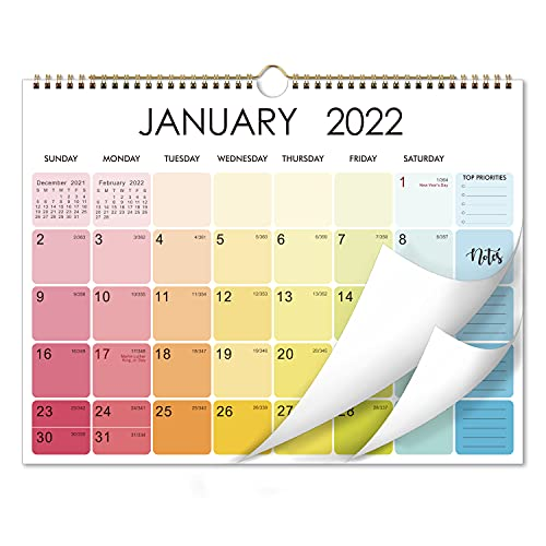 2022 Calendar - 2022 Wall Calendar with Thick Paper, 15' x 11.5', January 2022 to December 2022, Perfect for Organizing in Home, School & Office