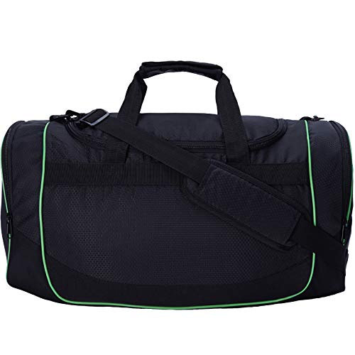MIER 24Inch Gym Bag Sports Duffel Bag with Shoe Compartment for Men, Black