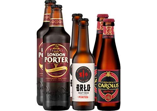 Bier Grill-Paket Gemüsespieße mit 6 Bierflaschen - 6 Bierspezialitäten - besonders lecker zu Gemüse - Deutsches Bier - Englisches Bier - Belgisches Bier