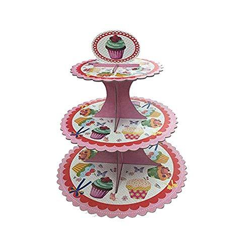 Yaeeee Norte de Europa Pastel Papel Soporte for la Boda/cumpleaños/Baby Shower/Suministros Quinceañera/Decoración de Fiesta Food Party Servidor (Color: Color al Azar, tamaño: un tamaño)