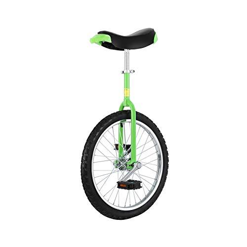 Yonntech Bicicleta de entrenamiento para adultos de 16 / 20 / 24 pulgadas, altura regulable, neumáticos de butilo, bicicleta estática (20 pulgadas), color verde