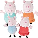 Piggy Pig Peppa Large Family Collection 4 Pack - Includes 12 Inch Daddy, Mummy, Peppa, and George Exclusive Peppa Pig Edition