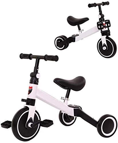 Triciclos for niños Trikes Caballos niños del niño del niño Bicicleta 2 en 1 triciclo triciclos al aire libre bici del bebé cubierta triciclo niños 1-3-6 años Caja de almacenamiento