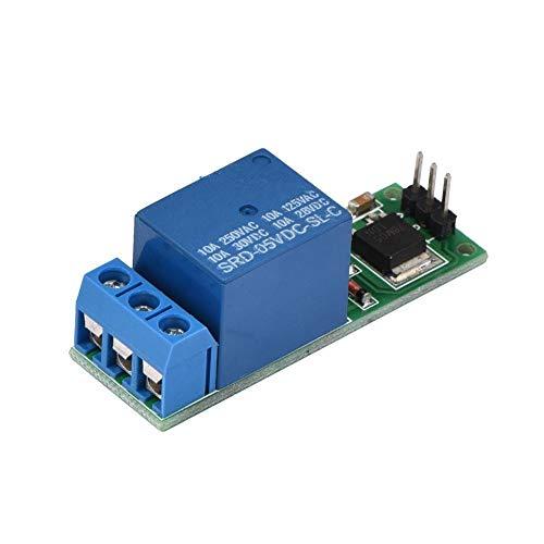 Akozon Tablero de disparo de bajo pulso Mini 6-24V Flip-Flop Latch Módulo de relé Interruptor de bloqueo automático biestable