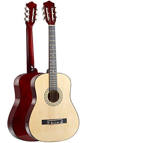 KEPOHK 38/39 pulgadas Guitarras clásicas Principiantes, 6 cuerdas Guitarra clásica de madera Práctica Show Guitarra 39 pulgadas Color madera