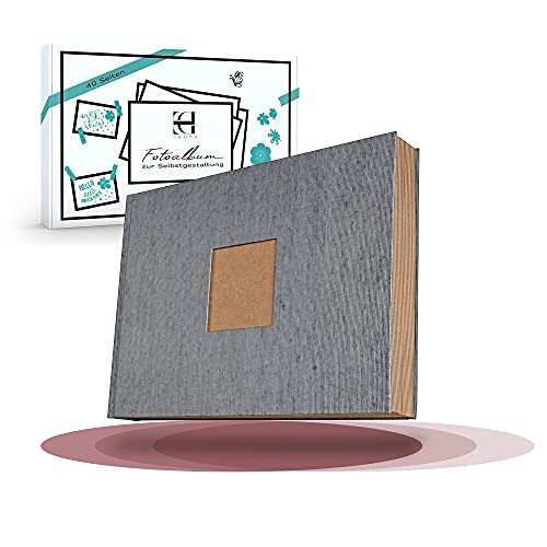 TODAU Fotoalbum zum Selbstgestalten 40 Blatt DIN A4 (80 Seiten) – DIY Fotobuch Scrapbook Set 30x21cm – Fotoalbum zum Einkleben inkl. Washitape, Goldstift & Fotoecken