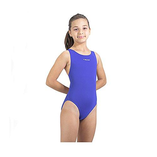 Head Solid Splice Last PBT SWS-Costume da Bagno Intero da Ragazza Blu Azul (RY) 2