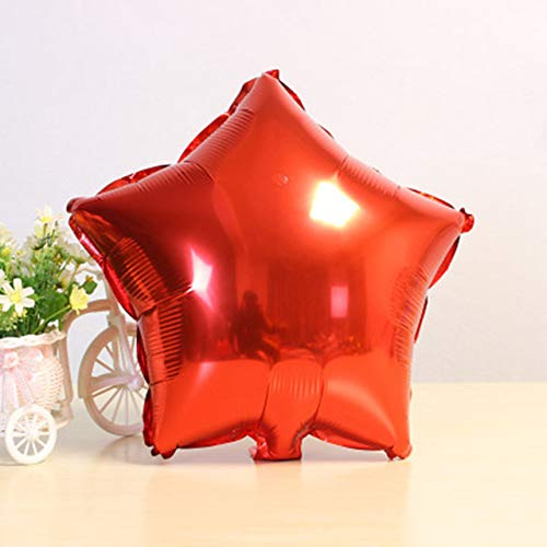 Lowest Prices! Utini 500PCS 18inch Five-Pointed Star foil Balloon Wedding Birthday Party Hotel Globo...