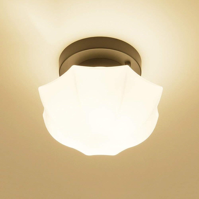 LCTCXD LED 9W kreative Deckenleuchte Ganglichter Deckenleuchten Wohnzimmer Balkon Flure Interieur (Farbe  warmwei) (Farbe   D, gre   Diameter 22CM)