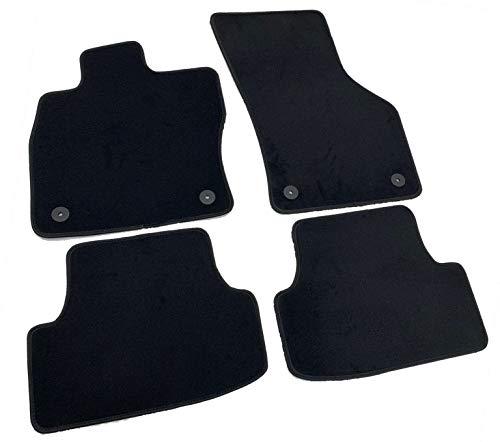 Alfombrillas para VW Golf 7 VII 2012 – 2019 a medida, de terciopelo Premium, color negro