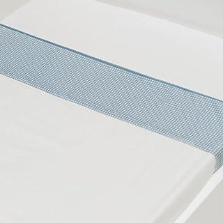 Briljant Drap Plat Gabriel Checks Bleu Baby (Coton) de 75x 100cm