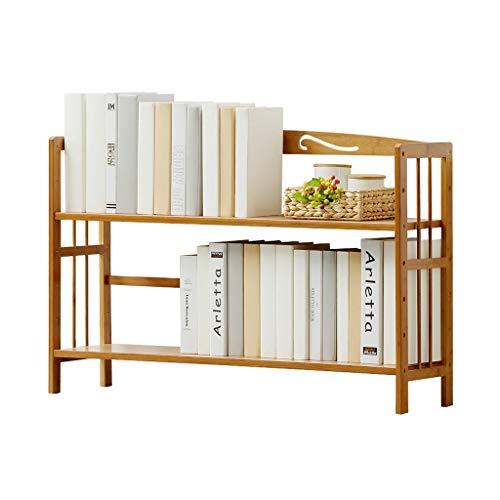 Estantería libreria Estante de madera simple de bambú Estante de almacenamiento de escritorio Estante de almacenamiento multifuncional ajustable Estante for estudiantes en casa Oficina Estanteria