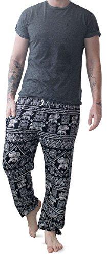 Mens Thai Yoga Pants - Traditional Baggy Rayon Harem Trousers - Casual...