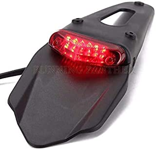 JIANXING Durable Stylish Motorbike Accessories Motorcycle LED Tail &Rear Fender Stop Enduro Taillight MX Trail Supermoto f...