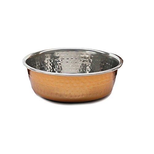 Rosewood Modern Copper Non Slip RVS Hond Kom, 470 ml, Klein
