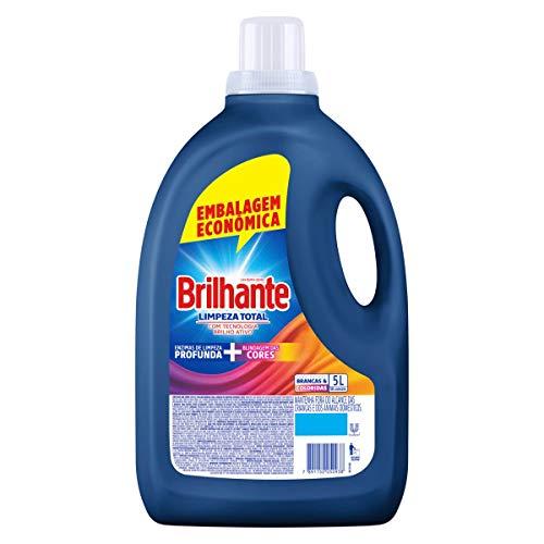 Lava Roupas Líquido Brilhante Limpeza Total 5L