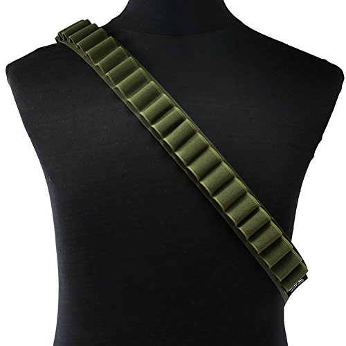 Yazilai Shotgun Shell Bullet Bandolier Belt (Army Green)