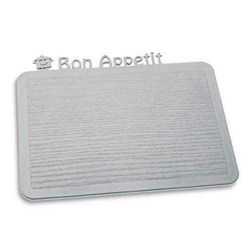 Koziol 3263632 Happy Boards Bon Appétit Planche à Découper Plastique Gris 17,9 x 22,7 x 0,3 cm