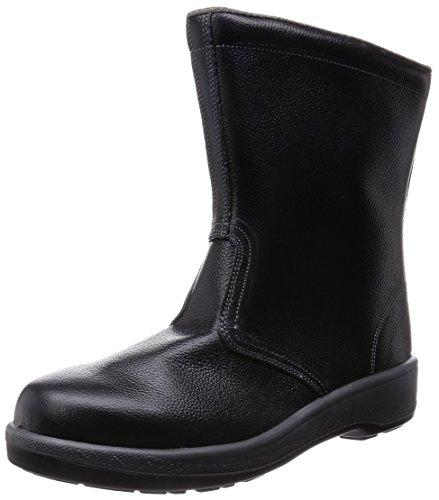 [シモン] 安全靴 半長靴 JIS規格 耐滑 快適 軽量 クッション 長靴 7544 メンズ 黒 27.5 cm 3E