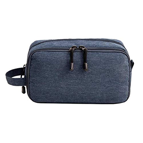 Trousse de toilette Étanche Cosmetic Bag Storage Grande Capacité Portable Multifonctionnel Simple Voyage Wash Universal 3 Couleur 22.5 * 9 * 12.5cm MUMUJIN (Color : Blue)