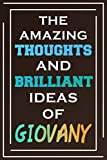 The Amazing Thoughts And Brilliant Ideas Of Giovany: Blank Lined Notebook   Personalized Name Gifts