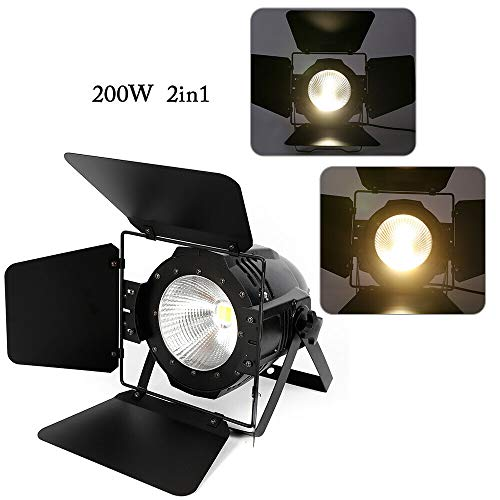 200 W COB LED-lamp 2-in-1 wit warm wit paar licht podiumverlichting DMX Par podiumlamp