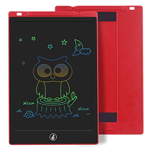 Sunany 11 Pulgadas Color Tableta de Escritura LCD, Tableta Escritura con Teclas Borrables, Regalos para Niños, Portátil LCD Writing Tablet para Niños, Escuela, Oficina(Rojo)