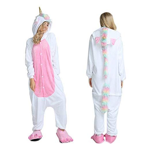 JBDGNZ Pijamas Mujer Panda Invierno Franela Pijama Camisón para Adultos Ropa de Dormir en General, Rosa, S
