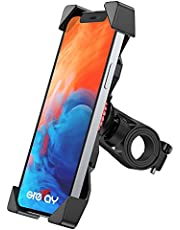 Grefay Phone Holder for Bicycle, Universal Scooter Motorcycle Phone Holder for 12 Mini, 12 Pro Max, 11 Pro, Pro Max Xs 8 X 8P 7 7P 6S, Samsung S10 S9 S8, Huawei, All 3.5-6.5 Inch Smartphone