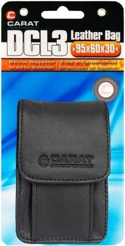 Carat Electronics DCL 3 Leder Kameratasche mit Speicherkartenfach (95 x 60 x 30 mm) schwarz