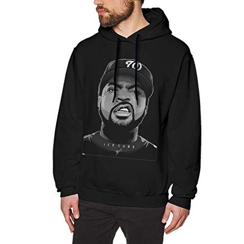 Ytdbh Herren Hoodie Kapuzenpullover, Men's Hoodie Sweatshirt Ice-Cube Cotton Sweater Black