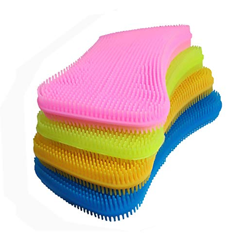 Hygiene Hero Sponge, 4 Colors Large Size Silicone Sponges for Kitchen, Bathroom and Toilet Cleaning