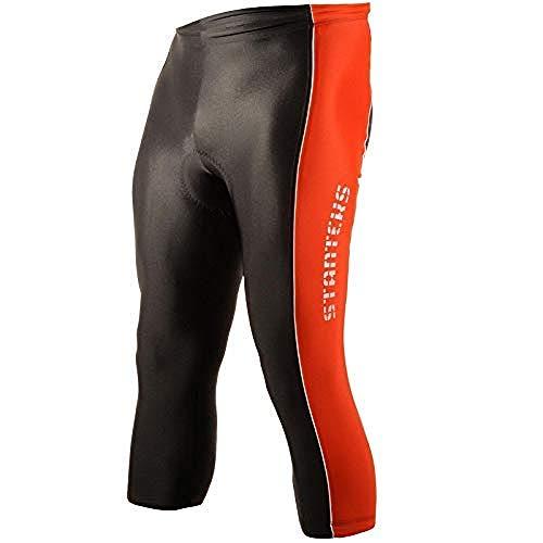 STANTEKS Pantaloncini da ciclista 3/4 bici Pantaloni pantaloncini da ciclista con imbottitura seduta Coolmax sr0060