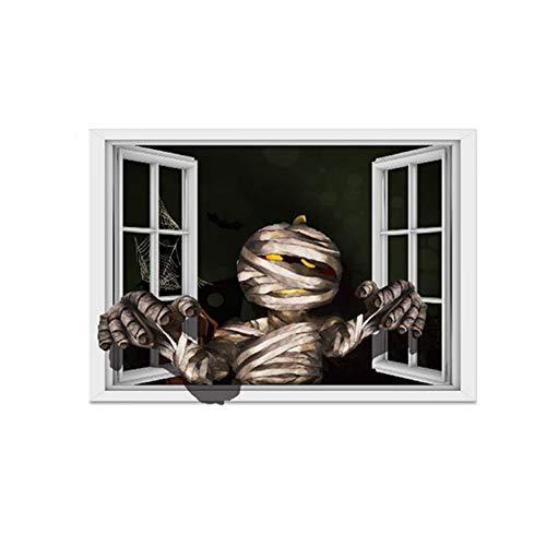 Ndier Pegatina para ventana de mamá, Halloween, hogar, 3D, extraíble, para decoración de habitaciones, muebles, decoración