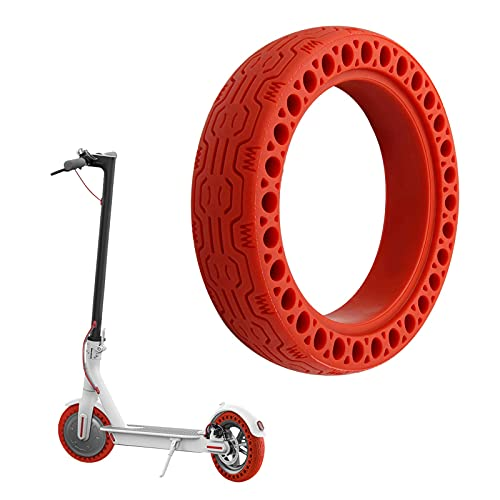 Houkiper Neumáticos de Repuesto para Scooter eléctrico, repuestos Seguros de neumáticos Antideslizantes de Goma no neumática de 8,5 Pulgadas compatibles con Xiaomi M365 (Red)