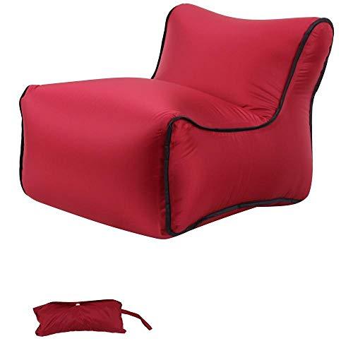 Lazy aufblasbares Sofa Nylon reißfestes Material tragbares Luftbett im Freien-rot