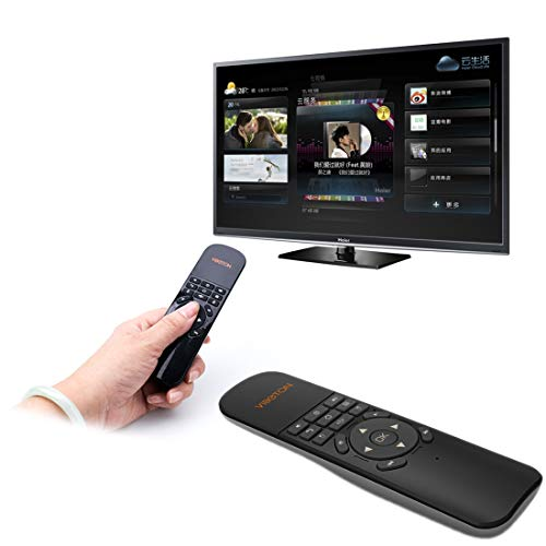 Air Mouse Remote Control UKB-521 2.4GHz Wireless Multimedia Control Air Mouse Keyboard Remote for PC, Tablet, TV Box(Black) rii Keyboard (Color : Black)