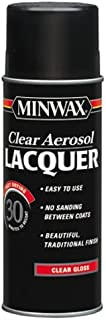 Minwax 15200 Gloss Brushing Lacquer Spray, Clear, 12.25-Ounce
