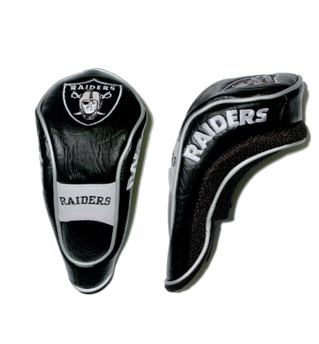 Team Golf NFL Oakland Raiders Hybrid Golf Club Headcover, Hook-and-Loop Closure, Velour Lined for Extra Club Protection