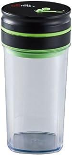 アピデ 真空保存容器 ブラック 1.0L:11.5×11.5×22.5cm
