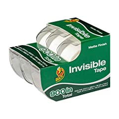 Non-glossy invisible tape is frosty on the roll and goes on smooth with a matte finish Provides a writeable surface with pens or markers Long-lasting, photo-safe clear tape is great for scrapbooking Adheres to a variety of surfaces making this invisi...