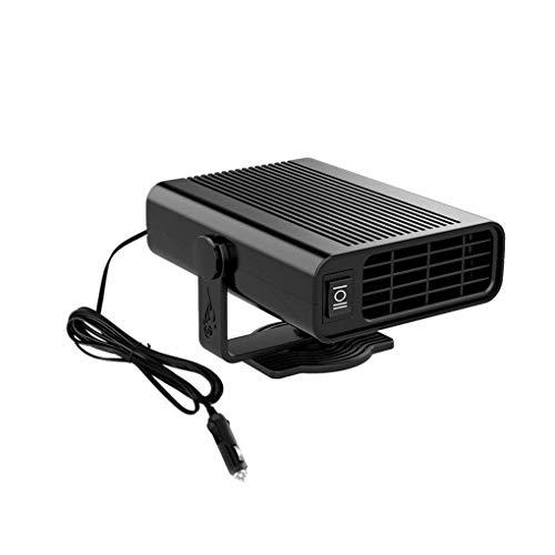 zhibeisai Auto Heater Defroster Fahrzeug-Innenluft Heizung Ventilator Windschutzscheibe Frost Nebel Remover, Schwarz, 12V