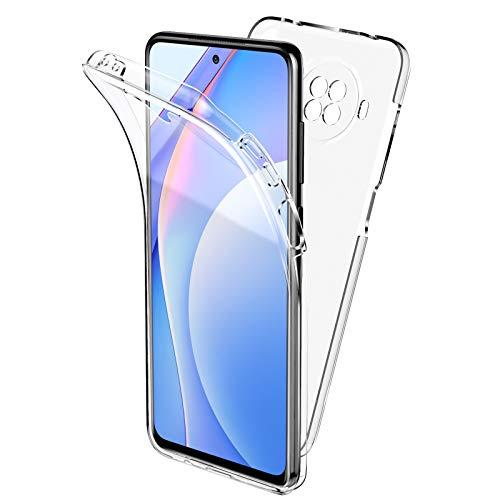 Oududianzi Funda para Xiaomi Mi 10T Lite 5G, 360 Grados Protección Diseñada, Transparente Ultrafino Silicona TPU Frente y PC Back Carcasa Belleza Original Funda de Doble Protección - Transpare