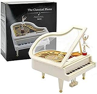Beauenty Valentine's Day Gift, Dancing Girl Piano Music Box, Wind-Up Clockwork Octave Dancing Piano Music Box,Rotary Balle...