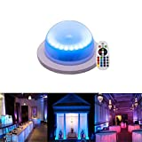 RGB 16 Color Options Remote Control Chargable Under Table Light, Outdoor Indoor Wireless Remote Control LED Garden Corridor Night Light, for Home, Wedding Decor