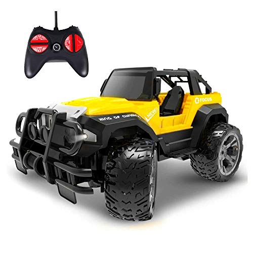U1S1 Remote Control Car,Cars Toy for Boys,Remote Control Truck Rc Car for 4 5 6 7 8 Year Old,Toys Jeep Kids Gifts for 4-8 Year Old Indoor Outdoors Toys Yellow,1:43 Scale