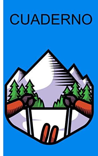 Cuaderno - motivo deportes de invierno: Cuaderno con motivo de deportes de invierno   cuadros   Tamaño 5 'x 8'   más de 100 páginas   para anotar deseos y notas