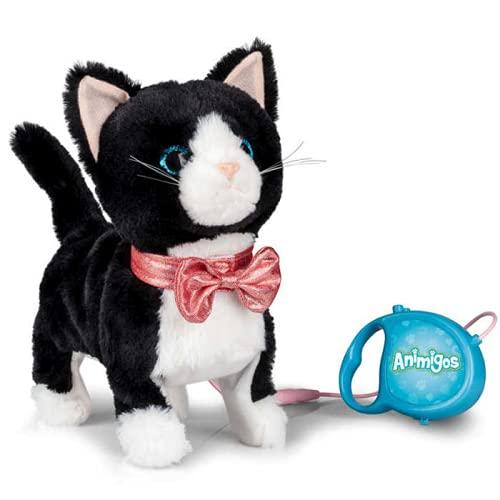 Animigos Plüsch-Katze, die miaut und geht (mit Fernbedienung)